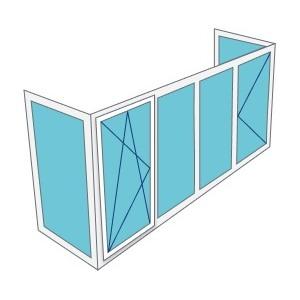 Остекление П - образного балкона
