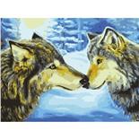Картина по номерам 40х50 см Остров Сокровищ Волки 662479