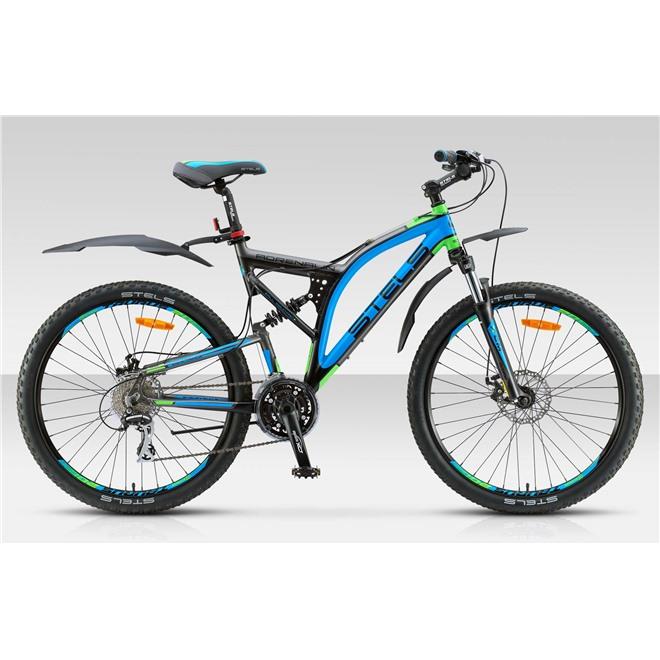 Велосипед Stels Adrenalin MD 26 (2015) Темно-серый/Черный/Голубой/Салатовый, интернет-магазин Sportcoast.ru