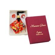 Комплект кулон и серьги в подарочной коробочке АА1072