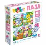 Пазл Baby Puzzle Для девочек, 4 в 1, 4/6/9/12 элементов, 04894