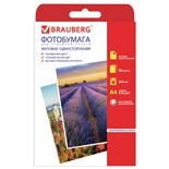 Фотобумага для струйной печати Brauberg А4, 260 г/м2, 50 листов, односторонняя матовая 363128