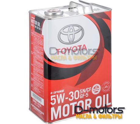 Моторное масло TOYOTA MOTOR OIL 5W-30 SN/GF-5 (4л.)