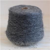 Пряжа Lilu  из сури альпака, Серый тёмный, 130м/50г, Lama Lima