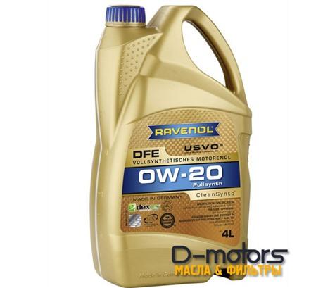 Моторное масло Ravenol DFE 0W-20 (4л.)