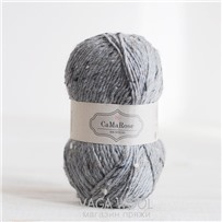 Пряжа Lama Tweed Серый камень 6442, 100м/50г, CaMaRose, Stengra