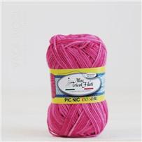 Пряжа Pic-Nic Color 103 Розовый секционный 115м/50гр., хлопок 100%, Miss Tricot Filati