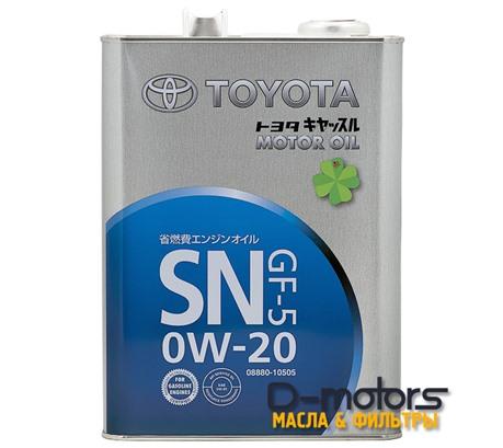 TOYOTA MOTOR OIL 0W-20 SN/GF-5 (4л.)