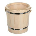 Ведро для бани Банные Штучки Таежное с пластиковой вставкой липа 5 л 31044