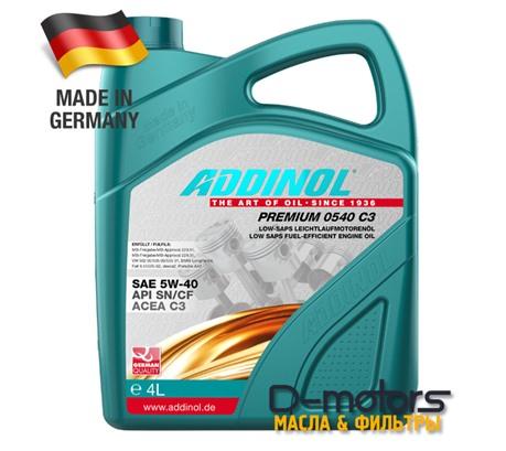 ADDINOL PREMIUM 0540 C3 5W-40 (4л)