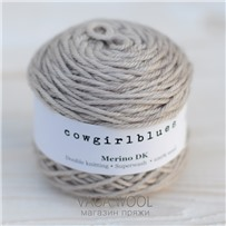 Пряжа Merino DK solid Песок, 100м/50г, Cowgirlblues, Sable