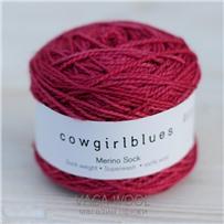 Пряжа Merino Sock solid Грязный розовый, 160м/50г, Cowgirlblues, Dustry Rose