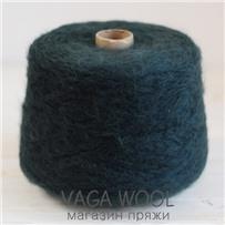 Пряжа Lilu из сури альпака, Тёмно-зелёный, 130м/50г, Lama Lima