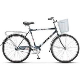 """Велосипед Stels Navigator 26"""" 210 Gent V010 Серый/Синий (с корзиной) , интернет-магазин Sportcoast.ru"""
