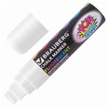 Маркер меловой Brauberg Pop-Art линия 15 мм белый 151537