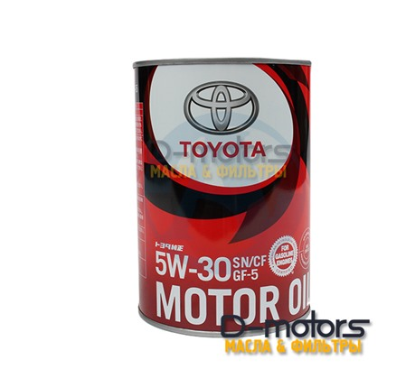 Моторное масло TOYOTA MOTOR OIL 5W-30 SN/GF-5 (1л.)