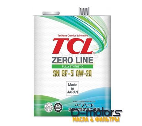 Моторное масло TCL Zero Line 0W-20 SN/GF-5 (4л.)