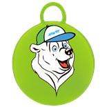 """Мяч-попрыгун """"Медвежонок"""" GB-403, 65 см, с ручкой, зеленый"""